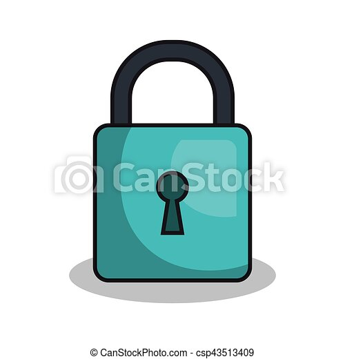 safe padlock isolated icon vector illustration design vector clipart rh canstockphoto com heart padlock vector padlock vector icon