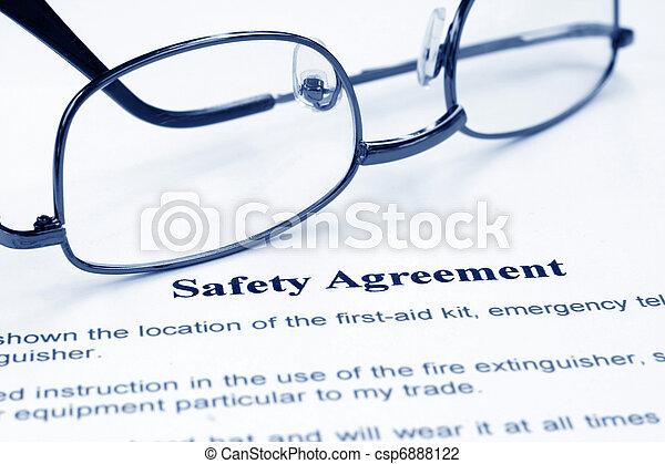 Safety agreement - csp6888122