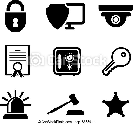 safety and security icons set collection of safety and vector rh canstockphoto com clipart construction free clip art construction images