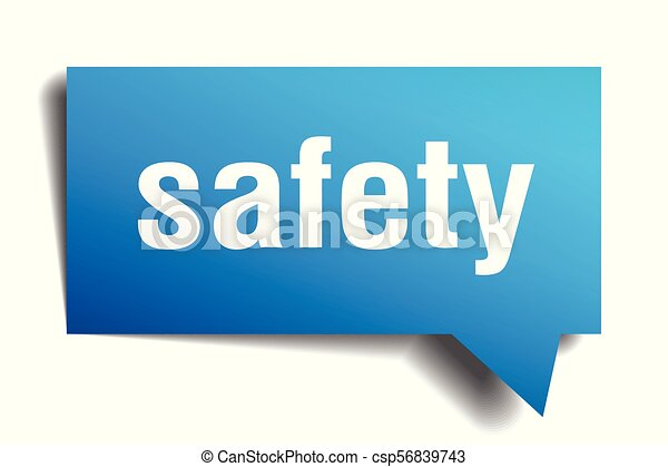 safety blue 3d speech bubble - csp56839743