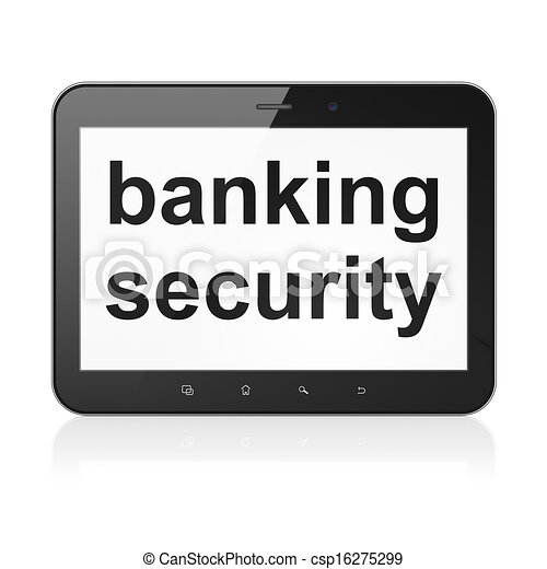 Safety concept: Banking Security on tablet pc computer - csp16275299