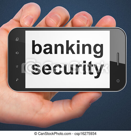 Safety concept: Banking Security on smartphone - csp16275934