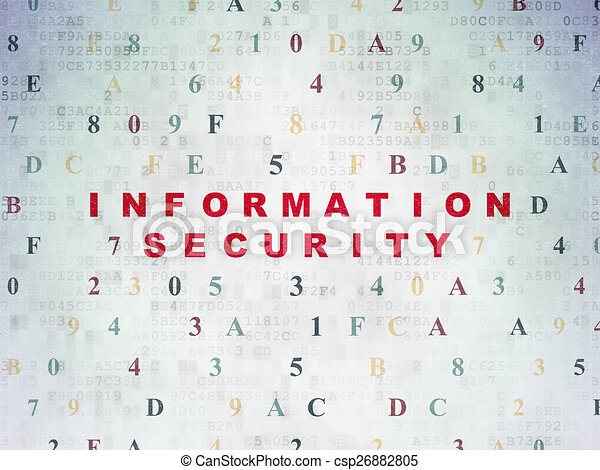 Safety concept: Information Security on digital background - csp26882805