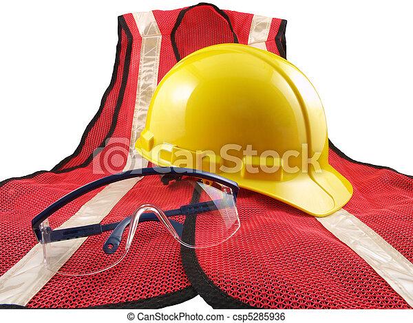 Safety Equipment on White - csp5285936