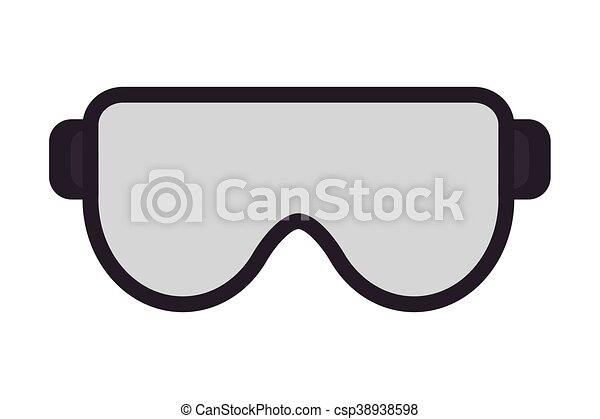 flat design safety goggles icon vector illustration eps vectors rh canstockphoto com safety goggles clipart free safety goggles clipart free