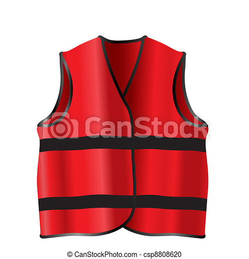 Safety Jacket For Construction Works Stock Illustration