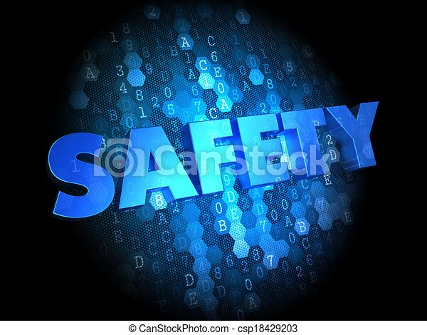 Safety on Dark Digital Background. - csp18429203