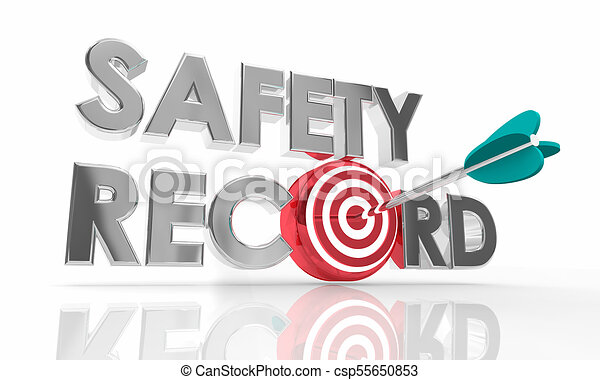 Safety Record Arrow Target Reduce Risks Accidents 3d