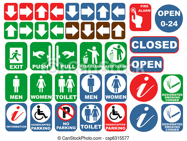 Safety Signs Safety Sign Set Vector Vectors Illustration Search