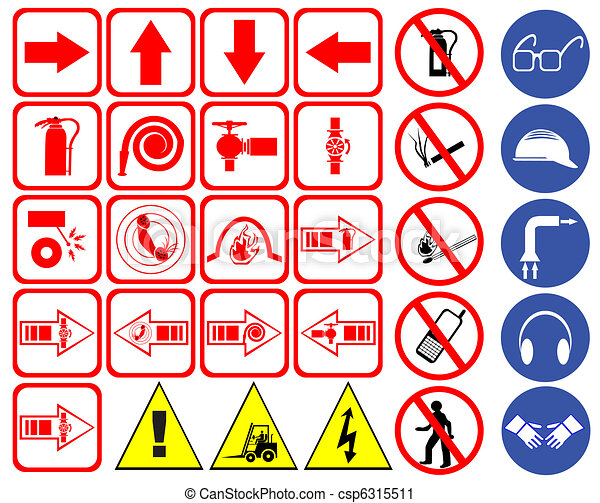 Safety Signs Safety Sign Set Vector
