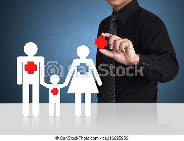 Safety symbol, Insurance concept - csp16625950
