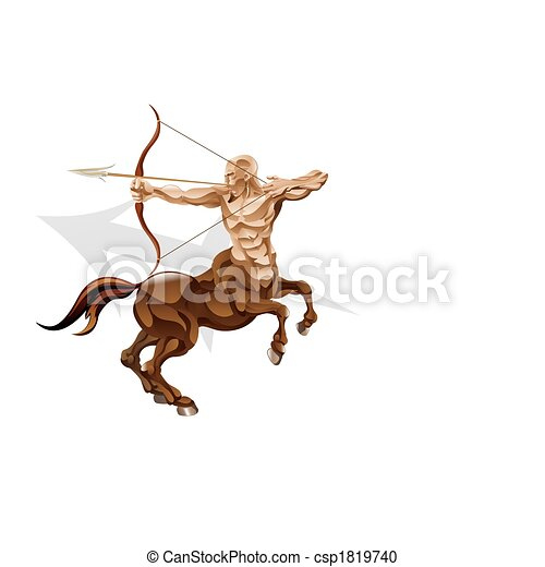 Sagittarius the archer star sign - csp1819740