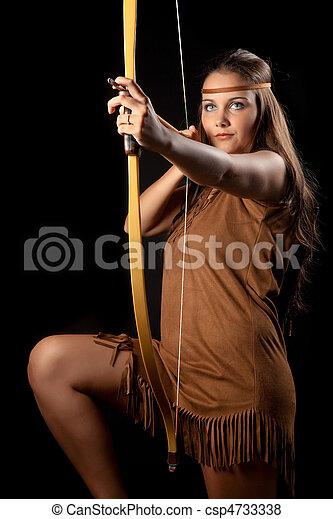 Sagittarius woman - csp4733338