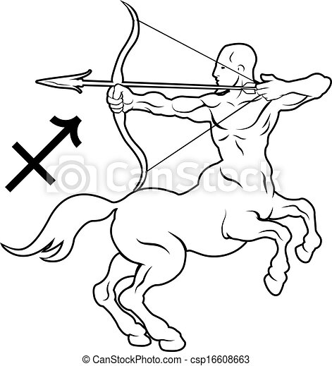 Sagittarius zodiac horoscope astrology sign - csp16608663
