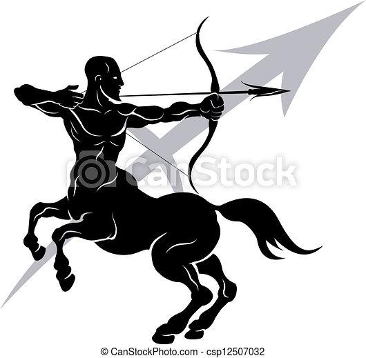 Sagittarius zodiac horoscope astrology sign - csp12507032