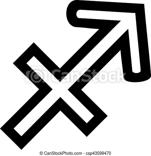 Sagittarius Zodiac Sign Outline Vectors Illustration Search