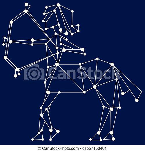 Sagittarius zodiac sign. - csp57158401