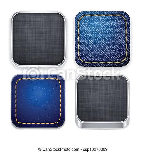 sagoma, app, quadrato, moderno, icons. - csp10270809