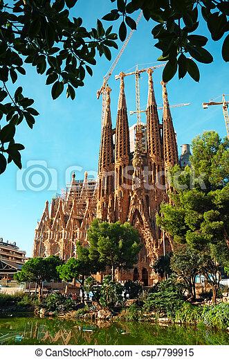 La iglesia familiar de Sagrada en Barcelona - csp7799915