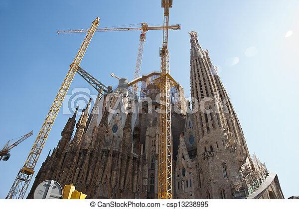 Sagrada Familia Church in Barcelona, Catalonia - csp13238995