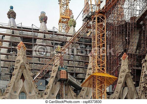 Sagrada Familia under construction - csp8373830