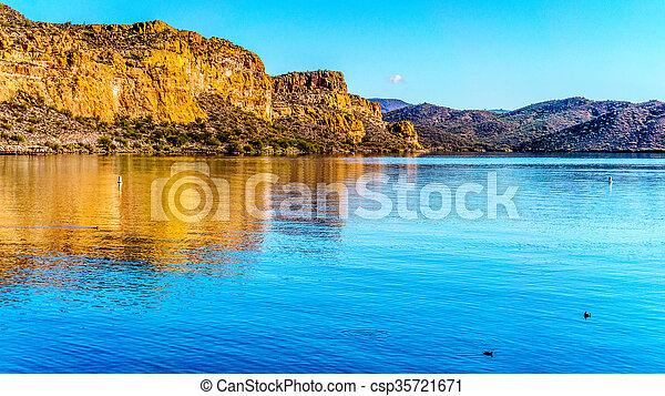 Saguaro Lake in Arizona - csp35721671