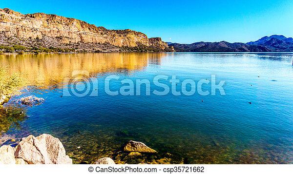 Saguaro Lake in Arizona - csp35721662