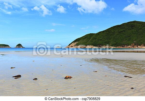 Sai Wan beach in Hong Kong - csp7908829