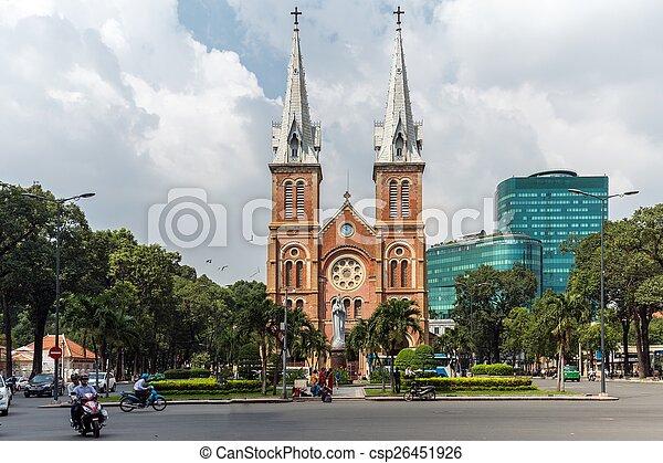 Catedral francesa de Saigón - csp26451926