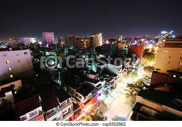 Noche de Saigón - csp5502862