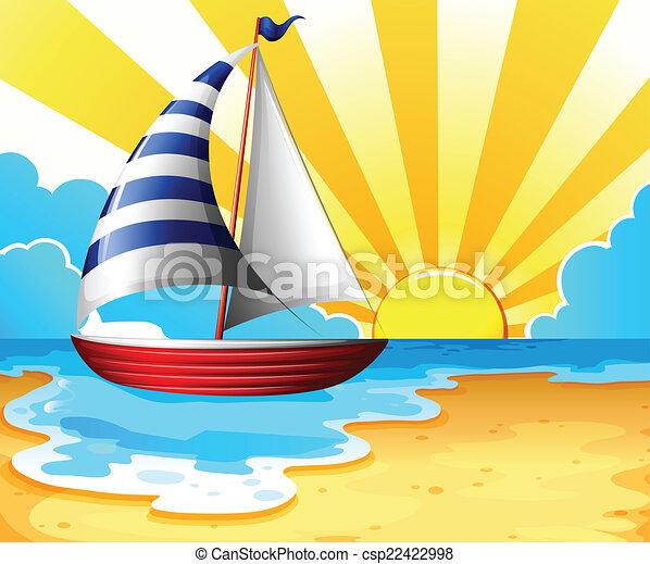 Sail and beach - csp22422998