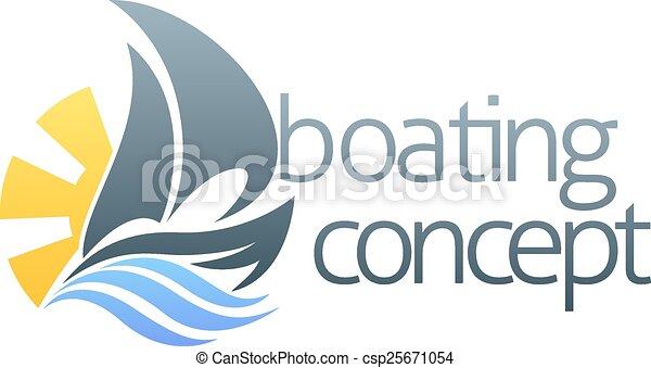 Sail boat concept - csp25671054