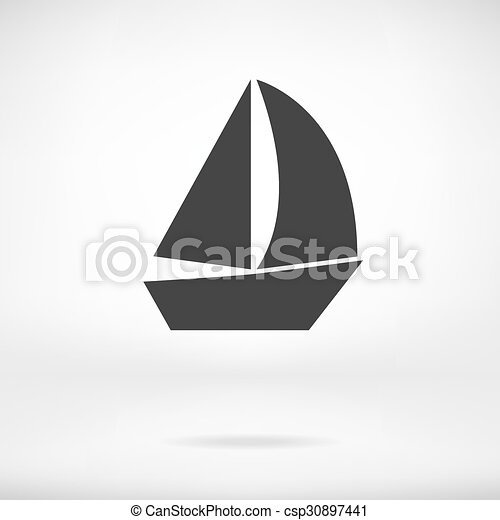 Sail Boat icon isolated - csp30897441