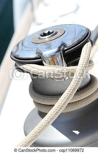 Sail Boat Winch - csp11069972