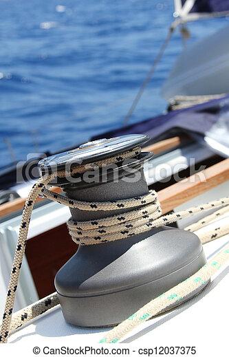 Sail Boat Winch - csp12037375