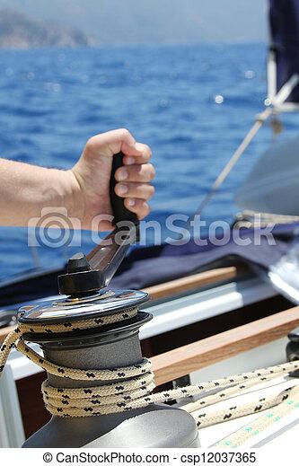 Sail Boat Winch - csp12037365