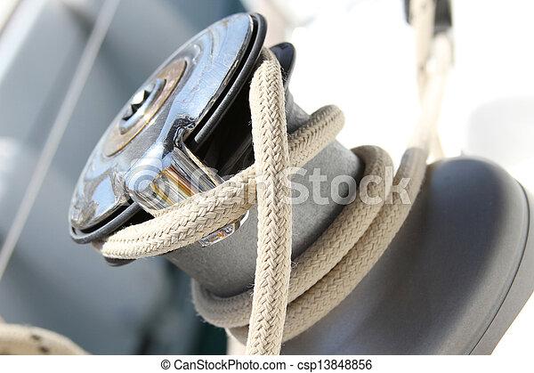 Sail Boat Winch - csp13848856