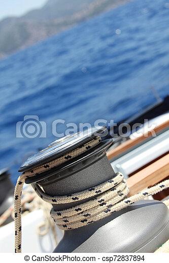 Sail Boat Winch - csp72837894