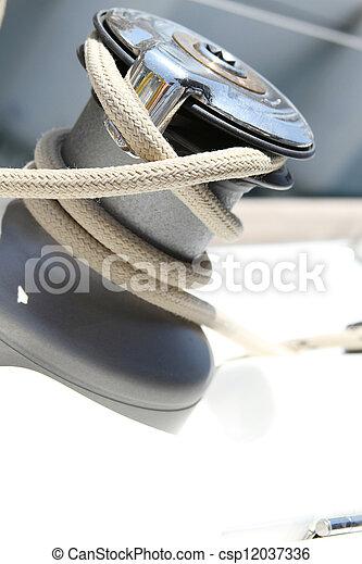 Sail Boat Winch - csp12037336