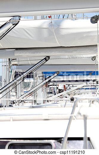 Sail Boom in a row - csp11191210