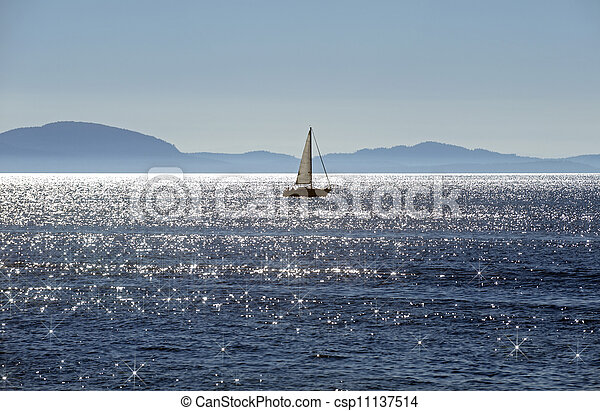 Sail on the sea - csp11137514