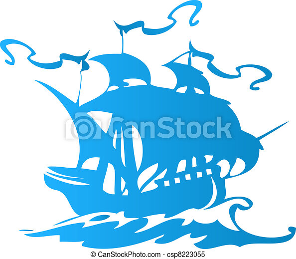 Sail ship or pirate ship  - csp8223055