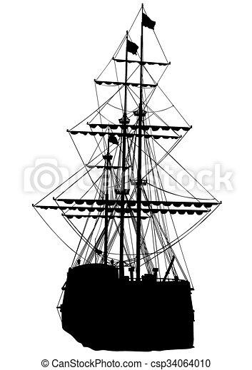 Sail ship - csp34064010