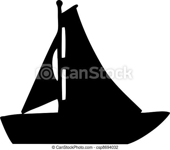 Sailboat silhouette - csp8694032