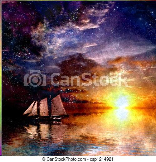 Sailboat Sunset - csp1214921