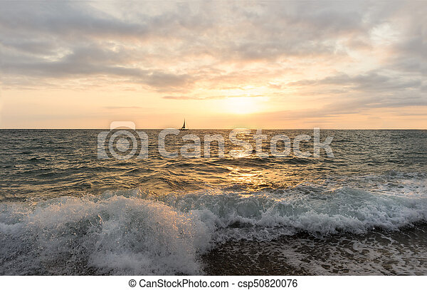 Sailboat Sunset - csp50820076