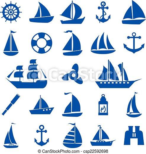 Sailboat symbol set.  - csp22592698