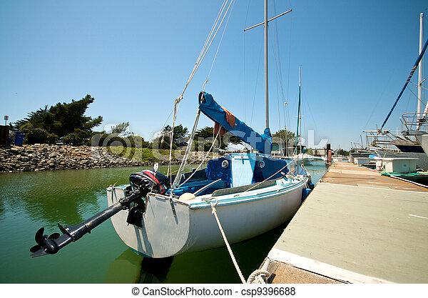 Sailboats at the waterfront of Berkeley Marina - csp9396688
