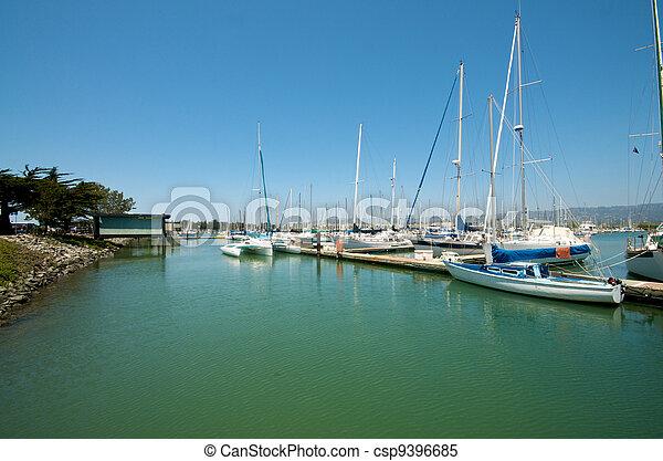 Sailboats at the waterfront - csp9396685
