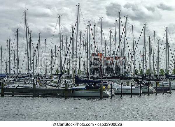 sailboats in the harbor - csp33908826